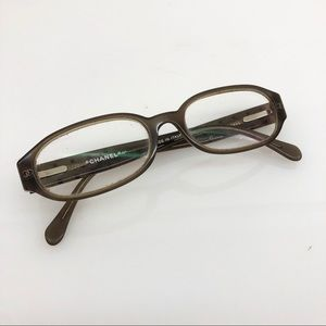 Chanel Gray Optical Glasses w/ Crystals